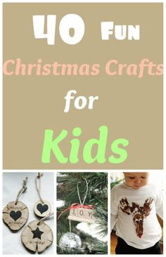 A list of 40 fun Christmas crafts for kids!