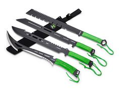 The Z-Hunter Machete Series gives you four different machetes to help you survive the zombie invasion, or whatever life throws at you.