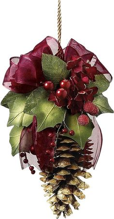 Decorated pine cone