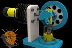 ''Step Forward!'' - Mansoura University (horizontal Stirling engine) - SOLIDWORKS,STEP / IGES - 3D CAD model - GrabCAD