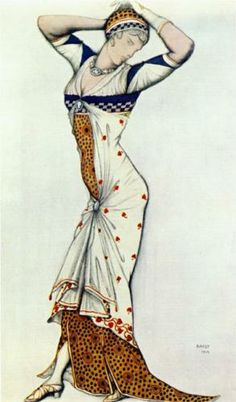 Design for a lady's dress - Leon Bakst