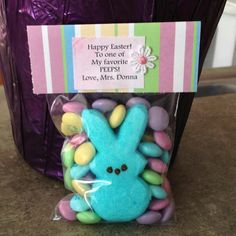 Easter eggs jellybeans treat bag toppers easter pinterest little easter bag for my students negle Images