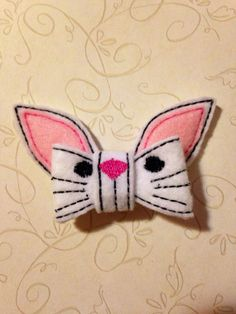 Easter Bunny Hair Bow  by SewCrazyByManda on Etsy, $6.00