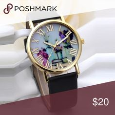 Vases Dial Watches With Leather Band Super cute vase watch Accessories Watches