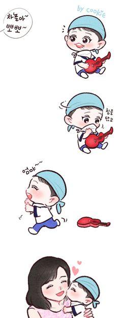 (1) Twitter Exo Kokobop, Park Chanyeol, Exo Cartoon, 5 Years With Exo, Exo Fan Art, China, Cute Chibi, My Youth, Chanbaek