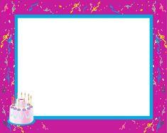 Gratis utskrivbara födelsedagskort till barn Happy Birthday Frame, Birthday Frames, Borders And Frames, Good Morning Good Night, Teaching English, Projects To Try, Birthdays, Printables, Symbols