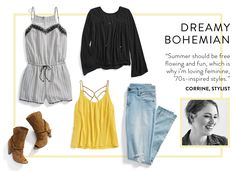 Love the flowy yellow top, need to figure out what type of shorts to wear with loose tops like this.