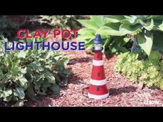 Lighthouses are a popular decorating motif not only because of their nautical roots, but because they symbolize safe harbor and protection. This lighthouse made from terra cotta clay pots is surprisingly easy to assemble, and it even features a lantern on top to cast a warm glow. You can place it in the garden as a decoration, or use it as a centerpiece for a beach gathering. [WATCH THE VIDEO TUTORIAL](https://youtu.be/y__tOXMH1LI)