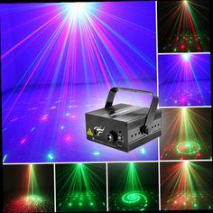 47.24$  Watch now - http://ali7v5.worldwells.pw/go.php?t=32651881034 - Profession AC110v~AC240v 9W SUNY 2 Lens 12 Patterns RG BLUE LED Stage laser Lighting DJ Light for Party Wedding 47.24$