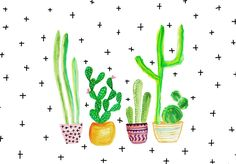 this post is a round up of the current trends-cacti with different uses of the plant and design interpretations of the cactus print