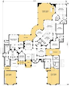 Spectacular Master Suite house is too large Dream House Plans, House Floor Plans, My Dream Home, The Plan, How To Plan, Construction Minecraft, Home Theater Rooms, House Layouts, My New Room