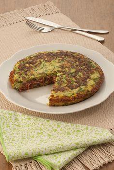 Tempo: 50min Rendimento: 4 Dificuldade: fácil Ingredientes: 2 abobrinhas italianas raladas 3 ovos batidos 1 colher (chá) de fermento em pó químico 1 dente