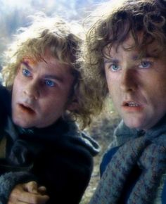 Dominic Monaghan as Merry & Billy Boyd as Pippin, The Lord of the Rings Trilogy, 2001-3