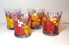 Tuscan Rocks Glasses by ArtsyFartsyServeware on Etsy, $7.00