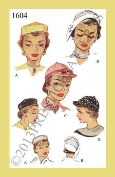 1950s Vintage Unique  Millinery HAT CAP Sewing