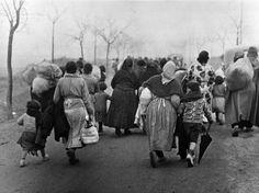 Refugees fleeing Teruel, Spain; December 1937 - 1938