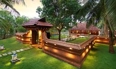 All Indian Home Decor Village House Design, Bungalow House Design, Village Houses, Indian Home Design, Kerala House Design, Indian Home Decor, Kerala Traditional House, Traditional House Plans, Chettinad House