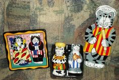 Candace Reiter Catzilla lot, S&P Shakers, Spoon Rest, Trivet new condition