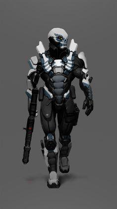 Dead Head, Ilya Shenk on ArtStation Web Banner Design, Design Web, Character Concept, Character Art, Character Design, Character Portraits, Armor Concept, Concept Art, Zoids
