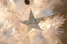 "Another tutorial for making paper stars - make them out of newspaper to go along with reading the book ""The Carpenter's Gift"""