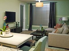 Tylor and Cris' finished apartment design with a semi-neutral color palette. (http://www.hgtv.com/hgtv-star/hgtv-star-season-8-photo-highlights-from-episode-3/pictures/page-27.html?soc=Pinterest)