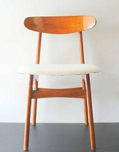 Vintage Mid Century Modern Teak Wood Curved Back by AntiqueLane, $225.00
