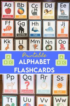 These colorful learning printables contain Alphabet Flashcards. These printable flashcards are great for helping kids letter recognition as well as their beginning sounds. This can be used for a homeschooling resource daily. 3 Year Old Activities, Halloween Activities For Kids, Printable Activities For Kids, Preschool Ideas, Printable Flashcards, Flashcards For Kids, Printable Letters, Printables, Alphabet Sounds