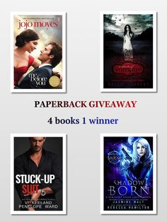 #win 4 PAPERBACKS OR $50 AGC FOR INT READERS