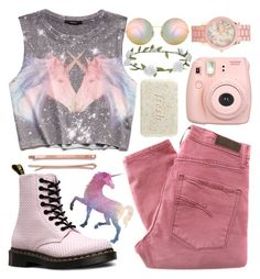 """""""Unicorn"""" by http-mxrmaid ❤ liked on Polyvore featuring Forever 21, Nobody Denim, Dr. Martens, Victoria Beckham, Fujifilm, Accessorize, Aéropostale, Fresh, Madewell and vintage"""