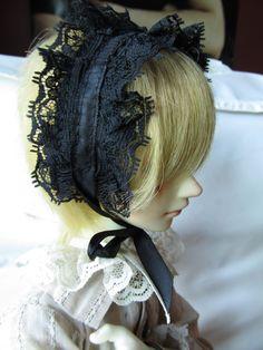 BJD Gothic Lolita Headband/Headdress for dolls. $9.00, via Etsy.