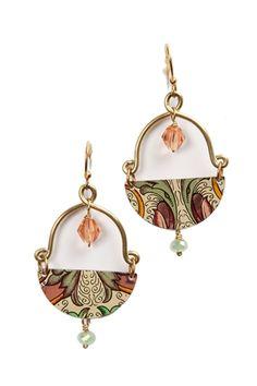 These are pretty. I love handmade jewelry. Juliet Earrings $43.20 www.hearts.com