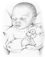 Early infant loss - pencil portraits