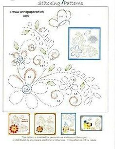 The Latest Trend in Embroidery – Embroidery on Paper - Embroidery Patterns Embroidery Cards, Hand Embroidery Patterns, Embroidery Stitches, Embroidery Designs, Learn Embroidery, Vintage Embroidery, Card Patterns, Stitch Patterns, Stitching On Paper