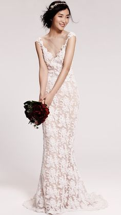 Timeless Embroidered Lace Gown