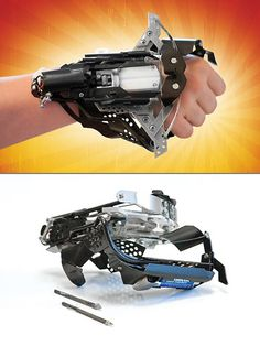 Awesome wrist-mounted crossbow gauntlet