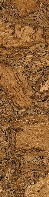 Some people assume all cork flooring looks like the surface of a bulletin board, but there are hundreds of styles and colors. My favorite cork flooring looks like burlwood.