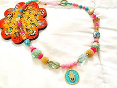 SALE BOLLYWOOD GYPSY Necklace  Bohemian Necklace 22k by Nezihe1, $48.99