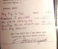 The Stir-Soldier Refuses to Tip Because He Fought for Server's Freedom