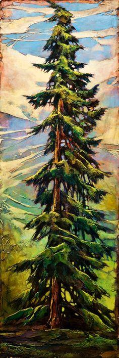 Don't Get Too Close by David Langevin.  DAVID LANGEVIN   lives and paints in Kamloops, British Columbia. Canada