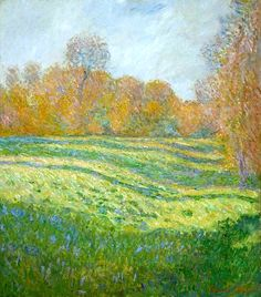 Meadow at Giverny Claude Monet - 1886