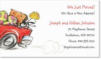 moving moving announcement Standard Business Cards