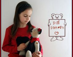 PDF SEWING Sewing Teddy Bear Pattern ,e-mail Download ,Special Price,Stuffed Animal Pattern,Hand Made ,Soft Baby Toy
