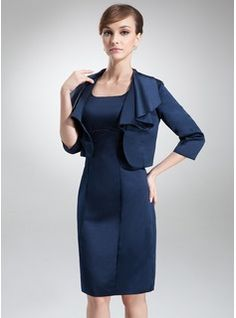 3/4-Length Sleeve Satin Special Occasion Wrap (013012353) - JJsHouse