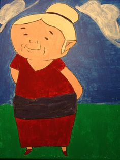 In honor of Grandparent's Day, I painted this picture of Link's beloved grandmother in Zelda The Wind Waker . Watercolor on canvas