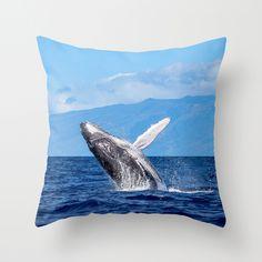 Humpback Breach 3 Throw Pillow