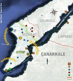 Gelibolu Yarımadası Tarihi Milli Parkı Haritası
