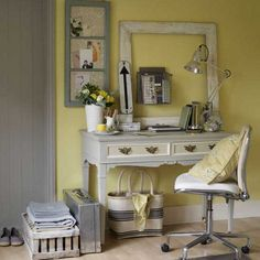 Not sure where to begin, the desk is perfect, the color pallete is simple and the vintage details make it perfect!