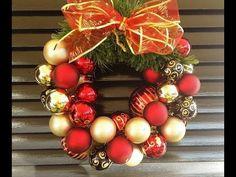 YouTube Ornament Wreath, Ornaments, Christmas Wreaths, Diy, Holiday Decor, Youtube, Home Decor, Christmas Ornaments, Jingle Bell