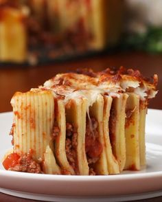 Cheesy Rigatoni Pie