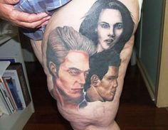 The tattoo is awful anyway. But the leg it's on is HIDEOUS.